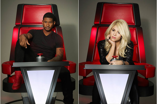 Usher and Shakira For 'The Voice'