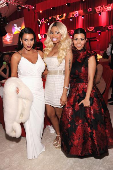 Kim Kardashian, Kourtney Kardashian and Nicki Minaj Attend Elton John's Oscars Party