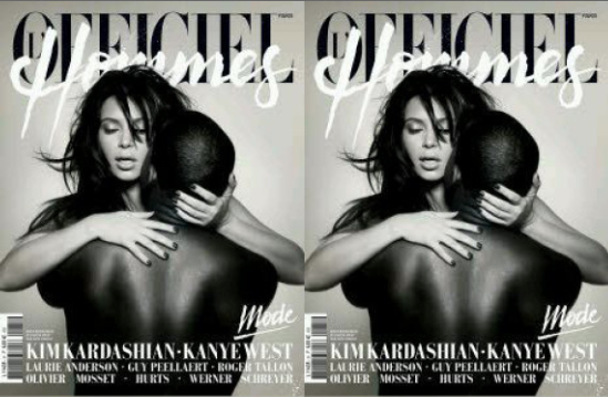 Kimye Pose Nude For French Magezine