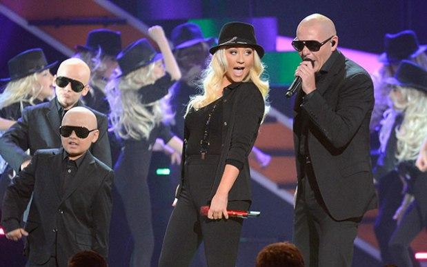 Pitbull And Christina Aguilera Perform