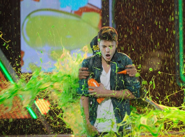 Justin Bieber And WIll Smith Get SLIMED
