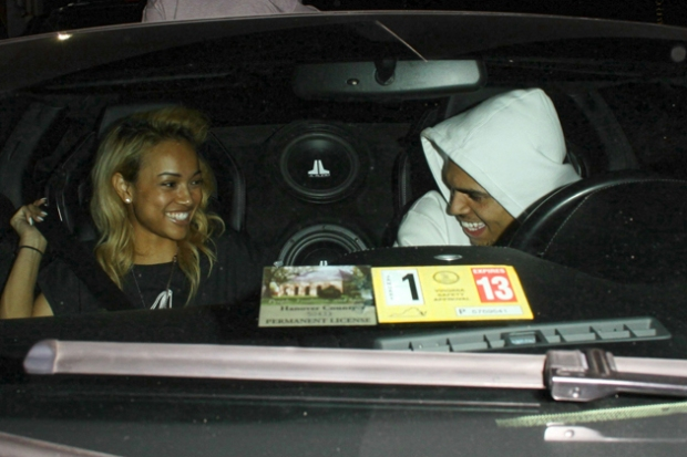 Karrueche and Chris Brown After The Billboard Music Awards