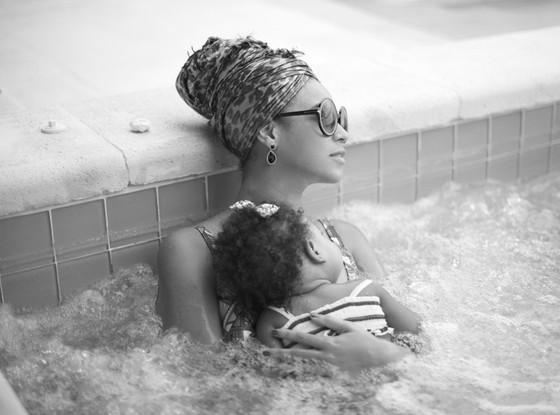 Beyonce and Blue Ivy Chill In A Jacuzzi