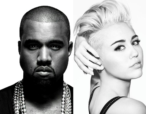 Kanye West and Miley CYrus Record Black Skinhead Remix