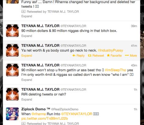 Teyona Taylor Vs. Rihanna