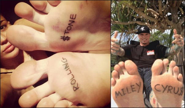 Vanilla Ice Gets Miley Cyrus Tattoo