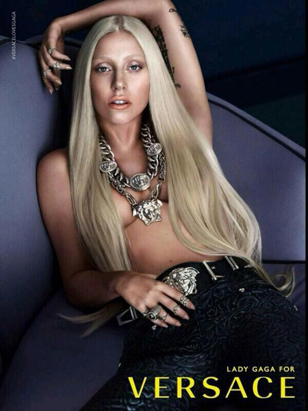 Lady Gaga Looks Great In Topless Versace Campaign