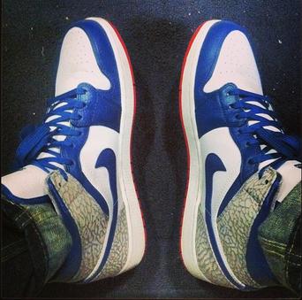 Air Jordan 1s True Blues