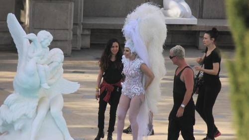 Behind The Scenes Of Lady Gaga's Next Video! [Watch]