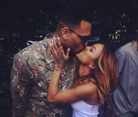 Chris Brown's Girlfriend Karrueche Tran Throws Him A Homecoming Party.