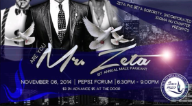 "Ohh Sooo Sweet, Sigma Nu Chapter Of Zeta Phi Beta Sorority, Inc and the partnered Women's Center of Rhode Island's the First Annual, ""Are You Mr. Zeta?"" Competition with Antia Frias."
