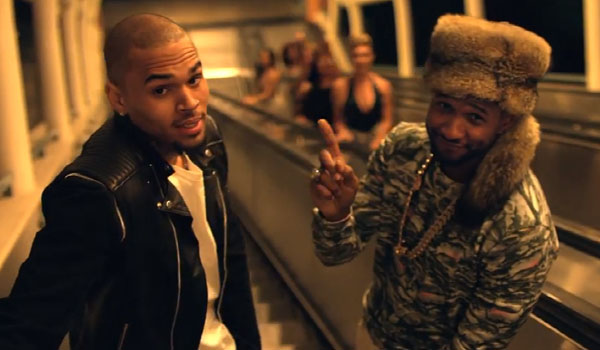 "Usher Plugs In Chris Brown For ""All Falls Down"""