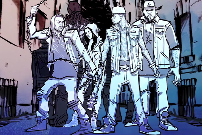 new mv kid ink chris brown get animated in hotel the latest