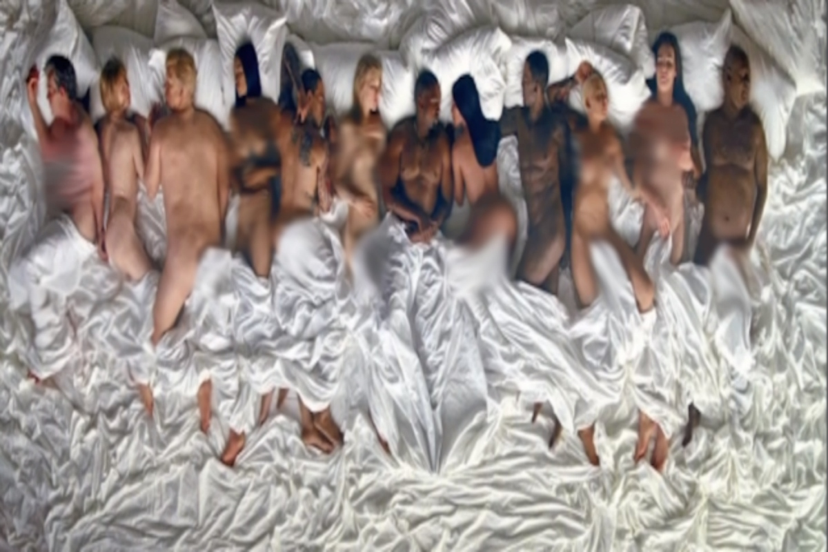 Kanye West Music Video Naked